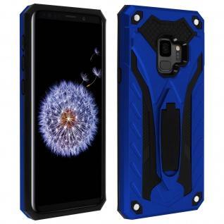 Samsung Galaxy S9 Hybrid stoßfeste Schutzhülle mit Ständer - Blau