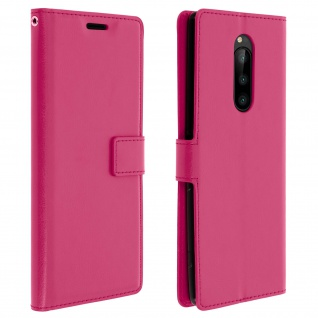 Flip Stand Cover Brieftasche & Standfunktion für Sony Xperia 1 - Rosa