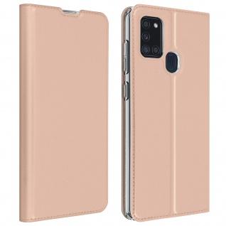 Klappetui mit Kartenfach & Standfunktion Samsung Galaxy A21s - Rosa