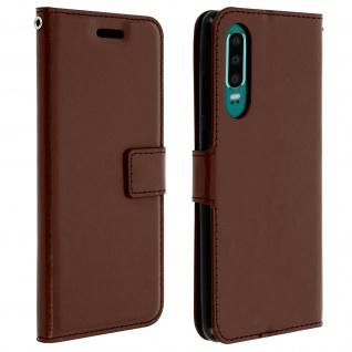 Flip Stand Cover Brieftasche & Standfunktion für Huawei P30 - Braun
