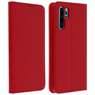 Wallet Cover, Klapphülle für Huawei P30 Pro, Kartenfach und Ständer - Rot