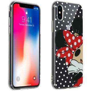 Minnie Maus Disney Gelhülle, Silikon Hülle für Apple iPhone X/XS - Transparent