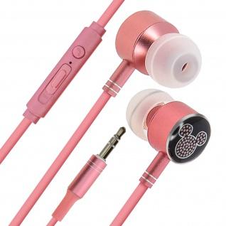 Disney in-ear Kopfhörer mit Fernbedienung, Mickey Maus Design - Rosegold/Schwarz