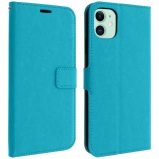 Flip Cover Stand Case Brieftasche & Standfunktion Apple iPhone 11 - Türkisblau