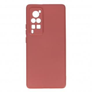 Halbsteife Silikon Handyhülle für Vivo X60 Pro, Soft Touch ? Rosa