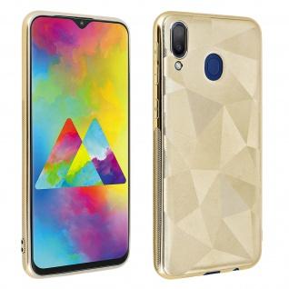 Holographische Handyhülle für Samsung Galaxy M20, Prism Design, Mocca - Gold