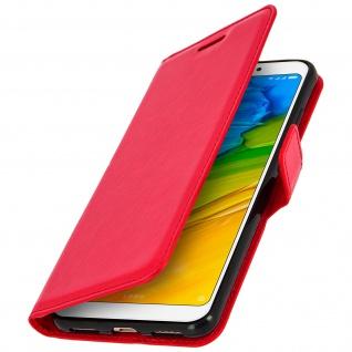 Flip Cover Stand Case Brieftasche & Standfunktion für Xiaomi Redmi 5 - Rot