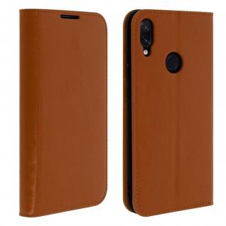 Business Leder Cover, Schutzhülle mit Geldbörse für Xiaomi Redmi Note 7 - Kupfer