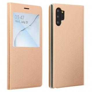 S-View Flip Cover mit Sichtfenster & Kartenfach für Galaxy Note 10 Plus - Gold