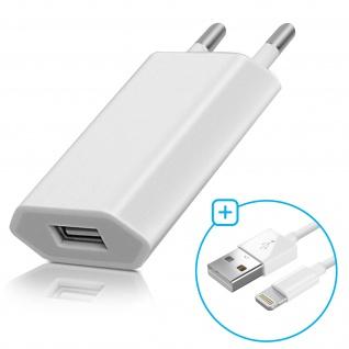 USB Wand Ladegerät + MFI iPhone/iPad Ladekabel (iPod, iPhone) ? Weiß - Vorschau 2