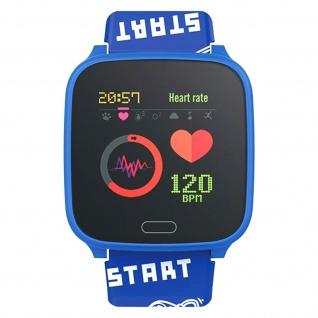 IP68 wasserdichte Kinder Smartwatch Silikon-Armband, iGO Forever ? Blau