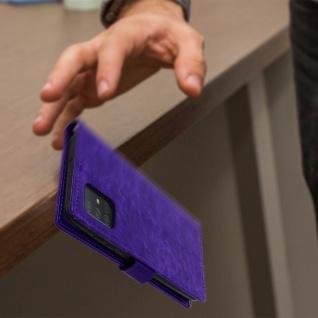 Flip Cover Stand Case Brieftasche & Standfunktion Samsung Galaxy A71 - Violett - Vorschau 5