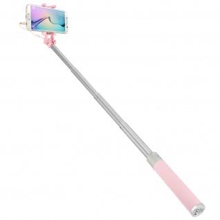 Forever Selfie-Stange ausziehbar, 3.5mm Klinkenstecker Einbeinstativ - Rosa