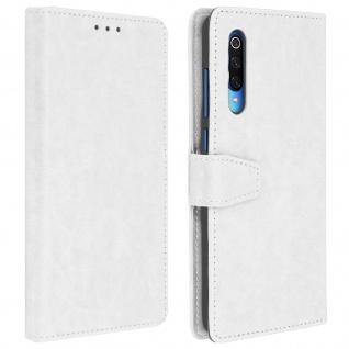 Flip Stand Cover Brieftasche & Standfunktion für Xiaomi Mi 9 - Weiß