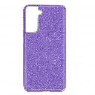 Schutzhülle, Glitter Case für Samsung Galaxy S21 Plus, shiny Hülle â€? Violett