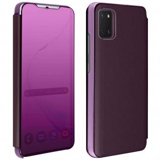 Mirror Klapphülle, Spiegelhülle für Samsung Galaxy Note 10 Lite - Violett