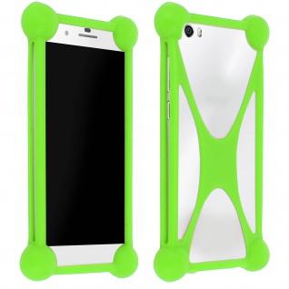 Universal stoßfeste Bumper Schutzhülle Silikon Grün Smartphones ? Mocca Design