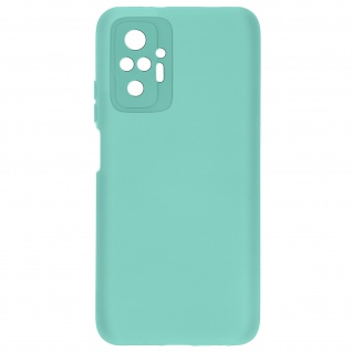 Halbsteife Silikonhülle für Xiaomi Redmi Note 10 Pro, Soft Touch ? Türkisblau