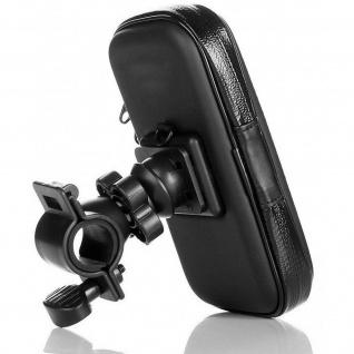 Moto-/ Fahrrad Halterung Smartphone 4.5'' - 5.7'', 360° drehbar Akashi - Schwarz