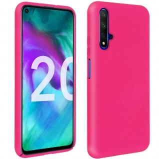 Halbsteife Silikon Handyhülle Honor 20, Huawei Nova 5T, Soft Touch - Fuchsienrot