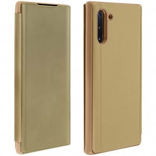 Samsung Galaxy Note 10 Flip Cover mit Spiegeleffekt & Standfunktion ? Gold