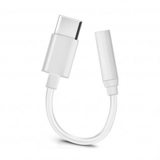USB-C / 3, 5mm Buchse Adapter, Kompaktes Audiokabel mit Buchse â€? Weiß