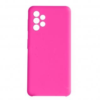 Venus Series halbsteife Soft-Touch Silikonhülle für Samsung A72 ? Rosa