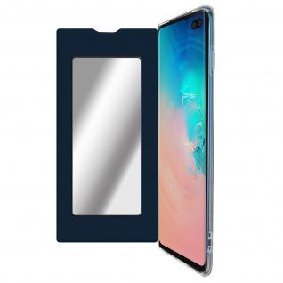 Spiegel Hülle, dünne Klapphülle für Samsung Galaxy S10 Plus - Dunkelblau