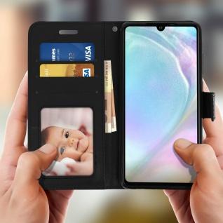 Flip Stand Cover Brieftasche & Standfunktion für Huawei P30 - Schwarz - Vorschau 3