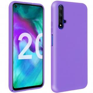 Halbsteife Silikon Handyhülle Honor 20, Huawei Nova 5T, Soft Touch - Violett