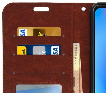 Flip Cover Stand Case Brieftasche & Standfunktion für Xiaomi Mi A2 - Braun - Vorschau 3