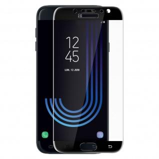 Bruchsichere Glas Displayschutzfolie voller Schutz Galaxy J7 2017 - Rand Schwarz