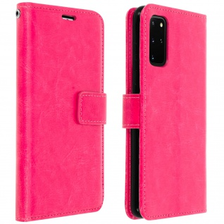 Flip Cover Stand Case Brieftasche & Standfunktion Samsung Galaxy S20 Plus - Rosa