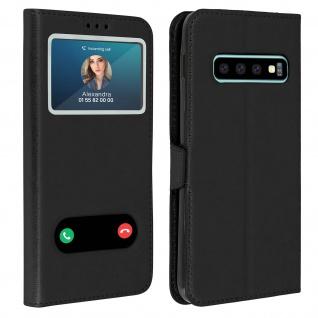 Samsung Galaxy S10 Plus Flip Cover Doppelfenster & Standfunktion - Schwarz