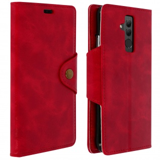Sixties Style Flip Cover Huawei Mate 20 Lite, Standcase mit Geldbörse - Rot