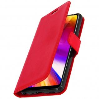Flip Cover Stand Case Brieftasche & Standfunktion für LG G7 ThinQ - Rot