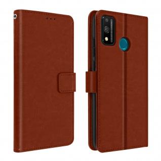 Flip Stand Case Brieftasche & Standfunktion für Honor 9X Lite - Braun