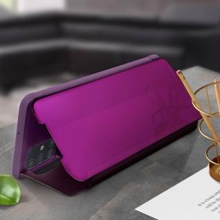 Mirror Klapphülle, Spiegelhülle für Samsung Galaxy A71 - Violett - Vorschau 3