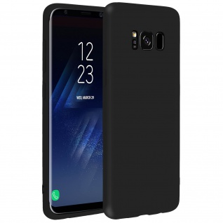 Forcell Samsung Galaxy S8 Plus Soft Touch Silikonhülle, soft case - Schwarz