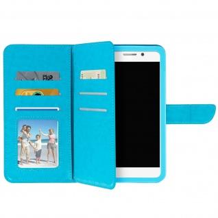 Universal Flip Cover Geldbörse mit 6 Kartenschlitzen Größe 3XL â€? Türkisblau