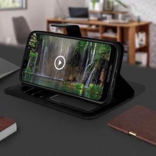 Flip Stand Cover Brieftasche & Standfunktion für Motorola Moto G7 Play - Schwarz - Vorschau 4