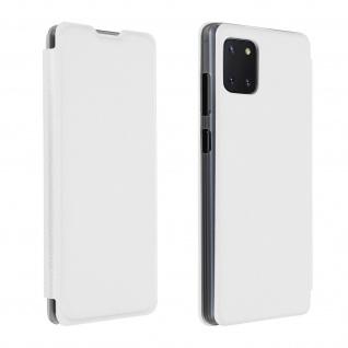 Flip Book Cover, Klappetui aus Kunstleder für Samsung Galaxy Note 10 Lite â€? Weiß