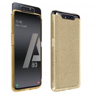Schutzhülle, Glitter Case für Samsung Galaxy A80, shiny & girly Hülle - Gold