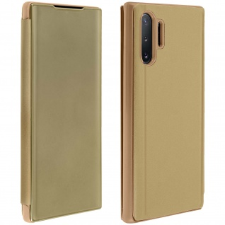 Samsung Galaxy Note 10 Plus Flip Cover mit Spiegeleffekt & Standfunktion ? Gold
