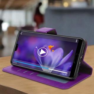 Flip Cover Stand Case Brieftasche & Standfunktion für Huawei P20 - Violett - Vorschau 5