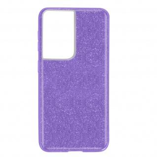 Schutzhülle, Glitter Case für Samsung Galaxy S21 Ultra, shiny Hülle â€? Violett