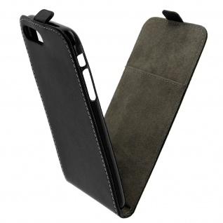 Apple iPhone 7 Plus, 8 Plus vertikale Flip-Schutzhülle - Schwarz