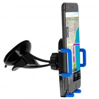 Kfz-Halterung für Smartphones Saugnapf + Lüftungshalterung - Blau