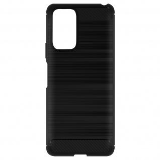 Xiaomi Redmi Note 10 Pro Hülle mit Aluminium und Carbon Design ? Schwarz