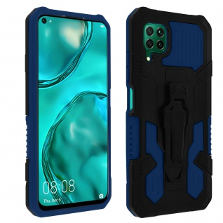 Stoßfeste Handyhülle Huawei P40 Lite, mit Gürtelclip und Ständer - Blau